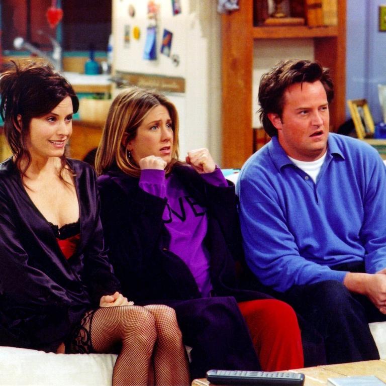 Rachel, Chandler, Monica, Friends