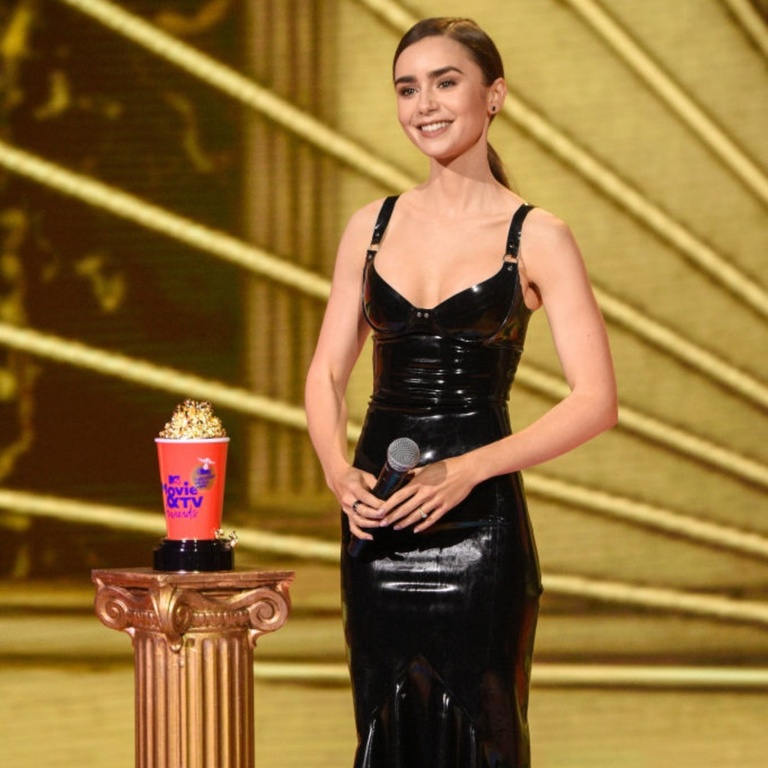 Lily Collins MTV Awards