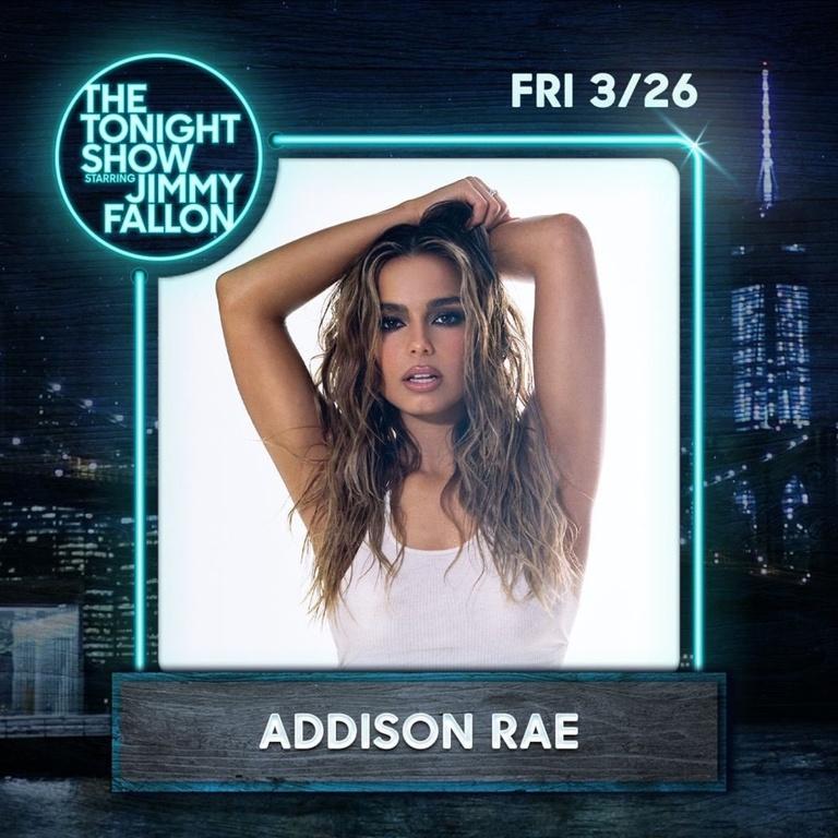 Tonight Show Addison Rae